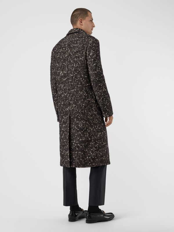 Wool Mohair Blend Tweed Tailored Coat in Black - Men | Burberry United States - cell image 2