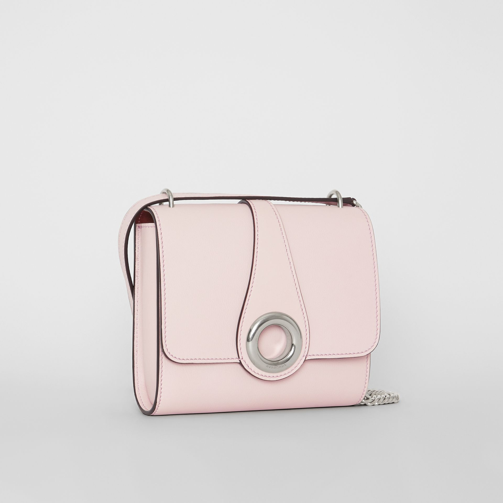 The Leather Grommet Detail Crossbody Bag in Chalk Pink - Women | Burberry United Kingdom - gallery image 6