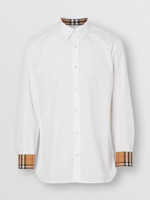 Hemd aus Stretchbaumwollpopelin (Weiss)