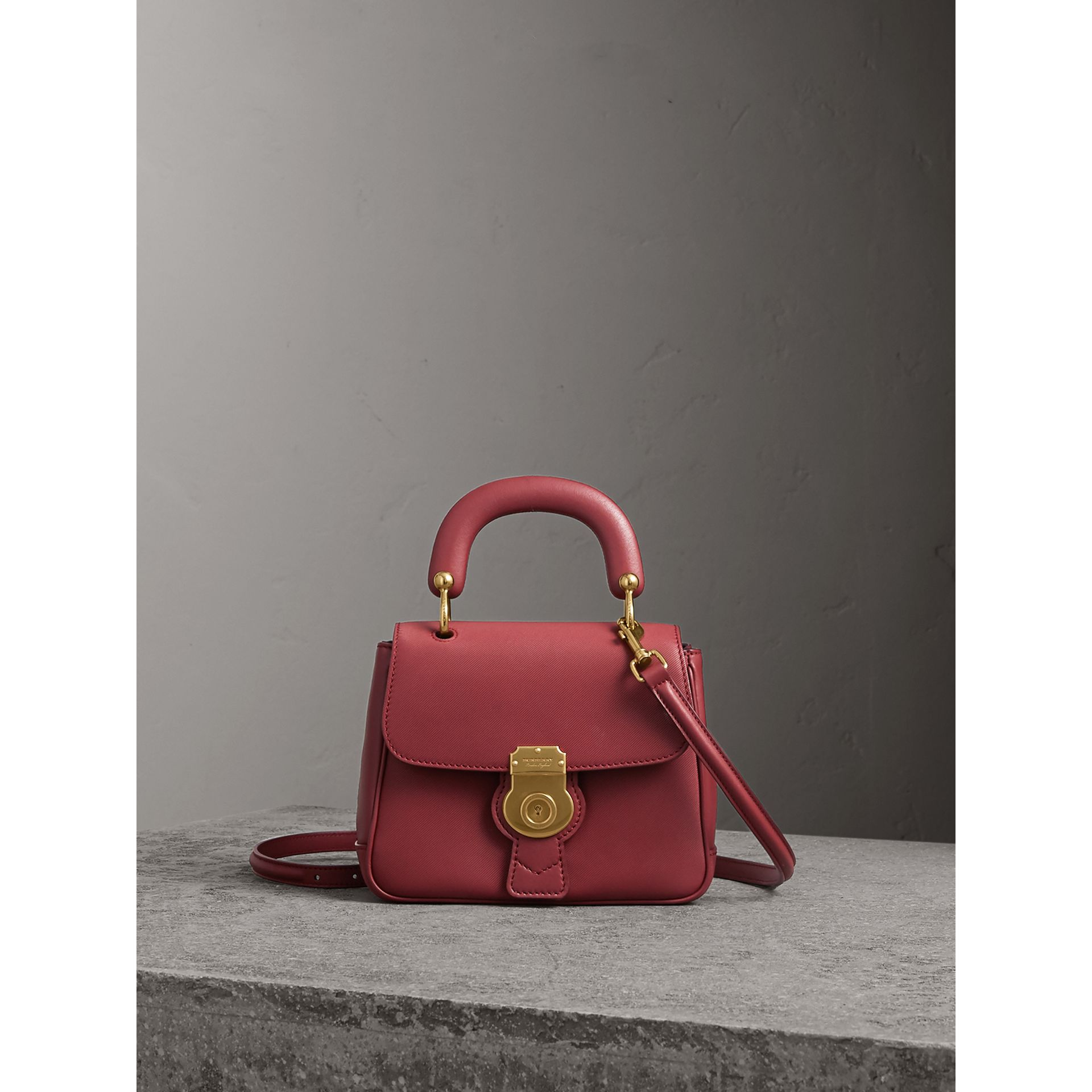The Small DK88 Top Handle Bag in Antique Red - Women | Burberry - gallery image 1
