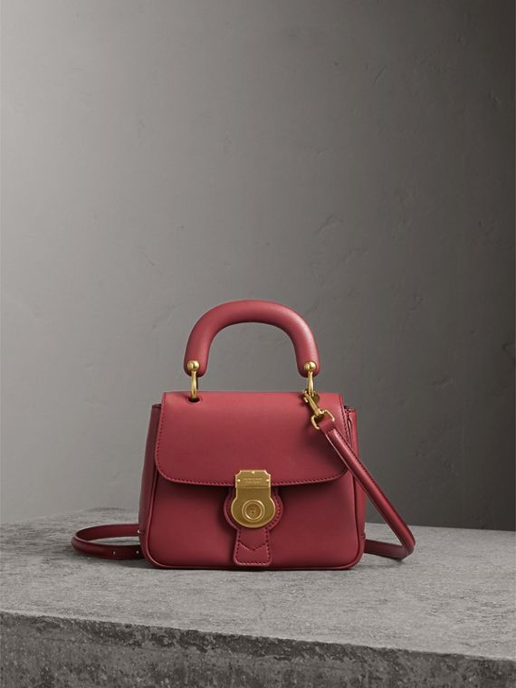 The Small DK88 Top Handle Bag in Antique Red