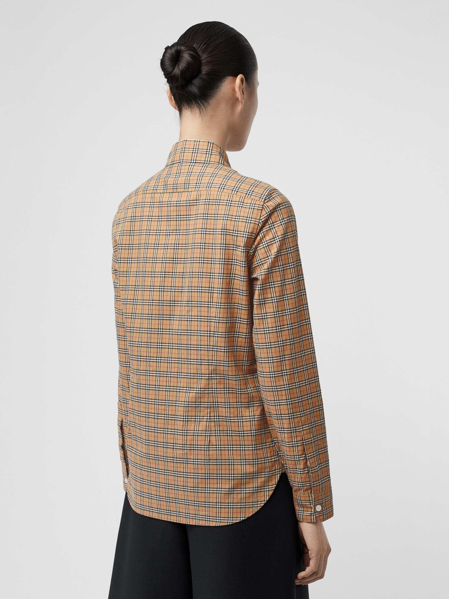 男士黄色牛仔裤_格纹棉质衬衫 (古典黄色) - 女士 | Burberry 博柏利