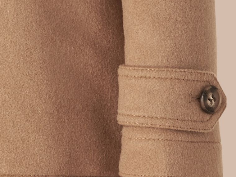 Fitted Wool Duffle Coat New Camel - cell image 1