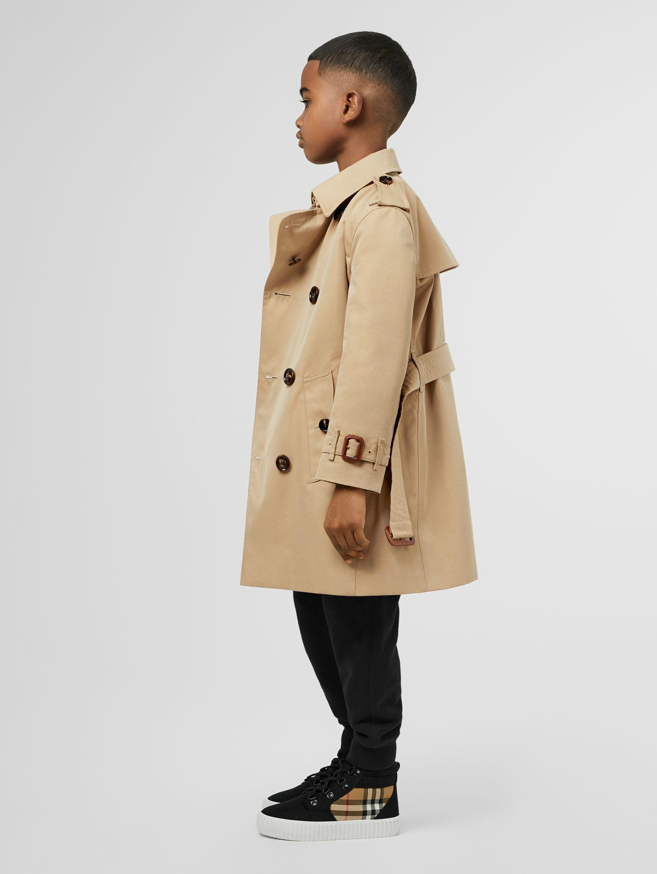 Cotton Gabardine Trench Coat (Honey)