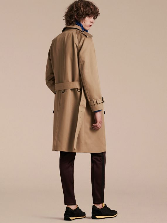 Light taupe brown Raglan-sleeved Cotton Trench Coat - cell image 2