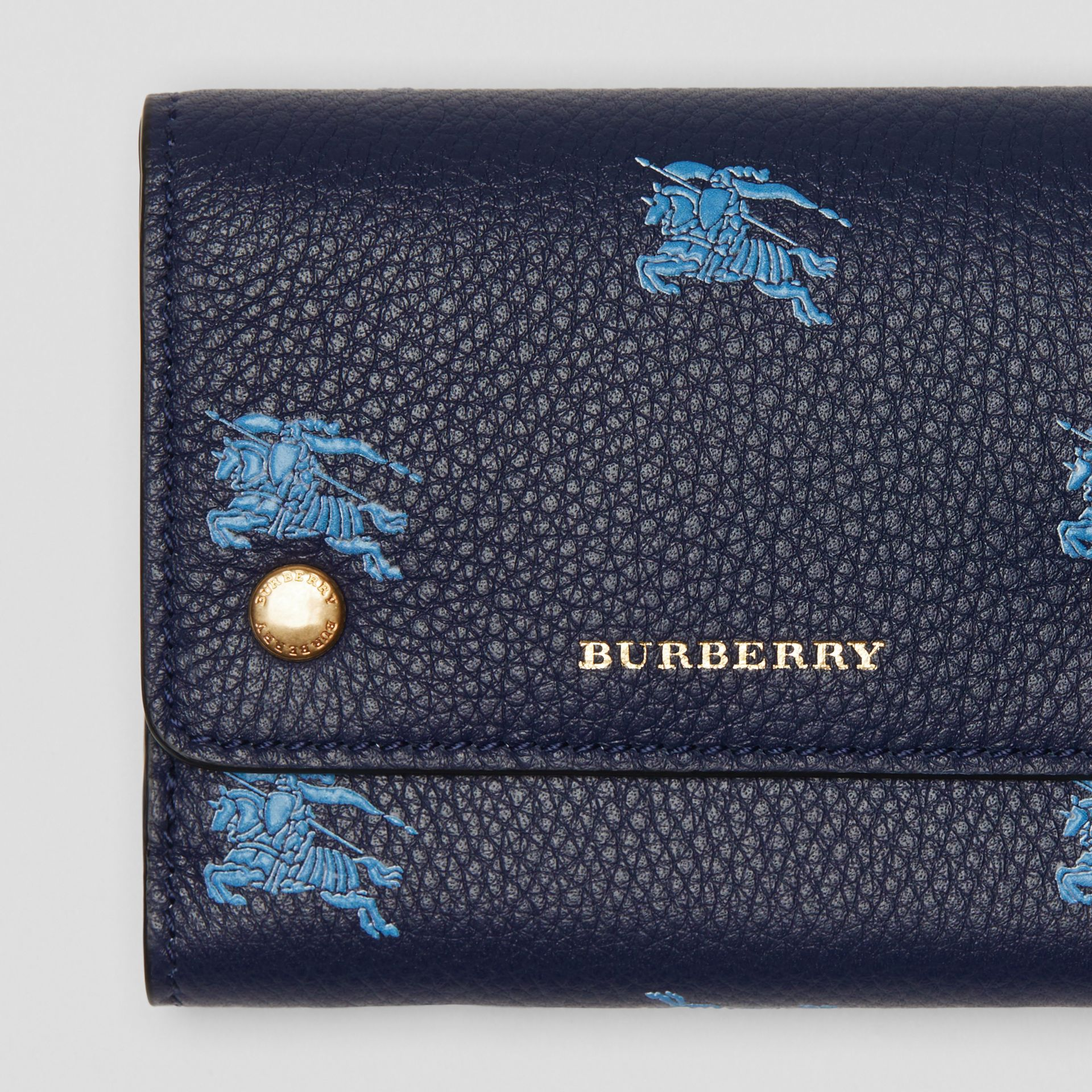 Small EKD Leather Wallet in Regency Blue - Women | Burberry - gallery image 1