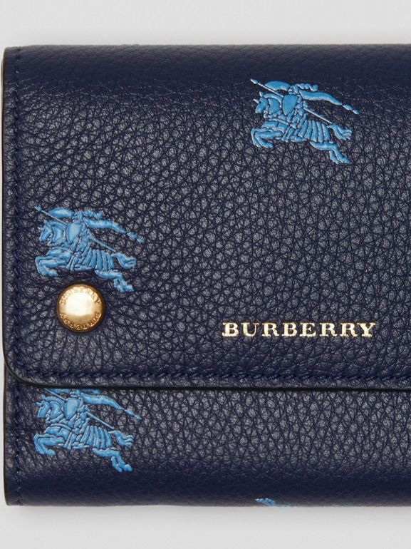 Small EKD Leather Wallet in Regency Blue - Women | Burberry - cell image 1