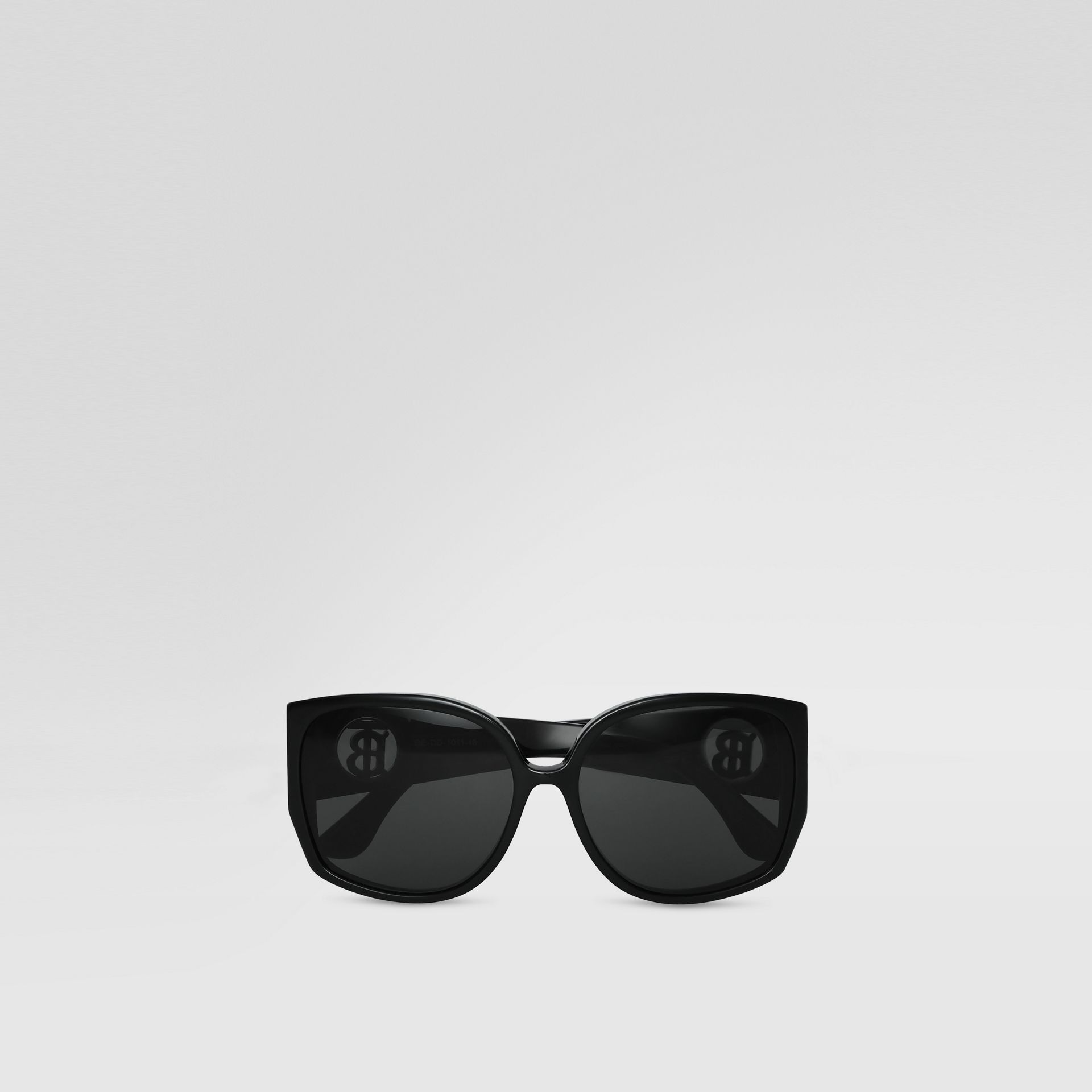 Oversized Butterfly Frame Sunglasses in Black - Women | Burberry United States - gallery image 0