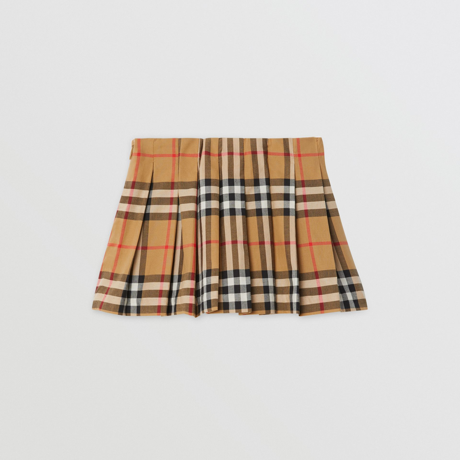 Jupe plissée à motif Vintage check (Jaune Antique) - Enfant | Burberry - photo de la galerie 3
