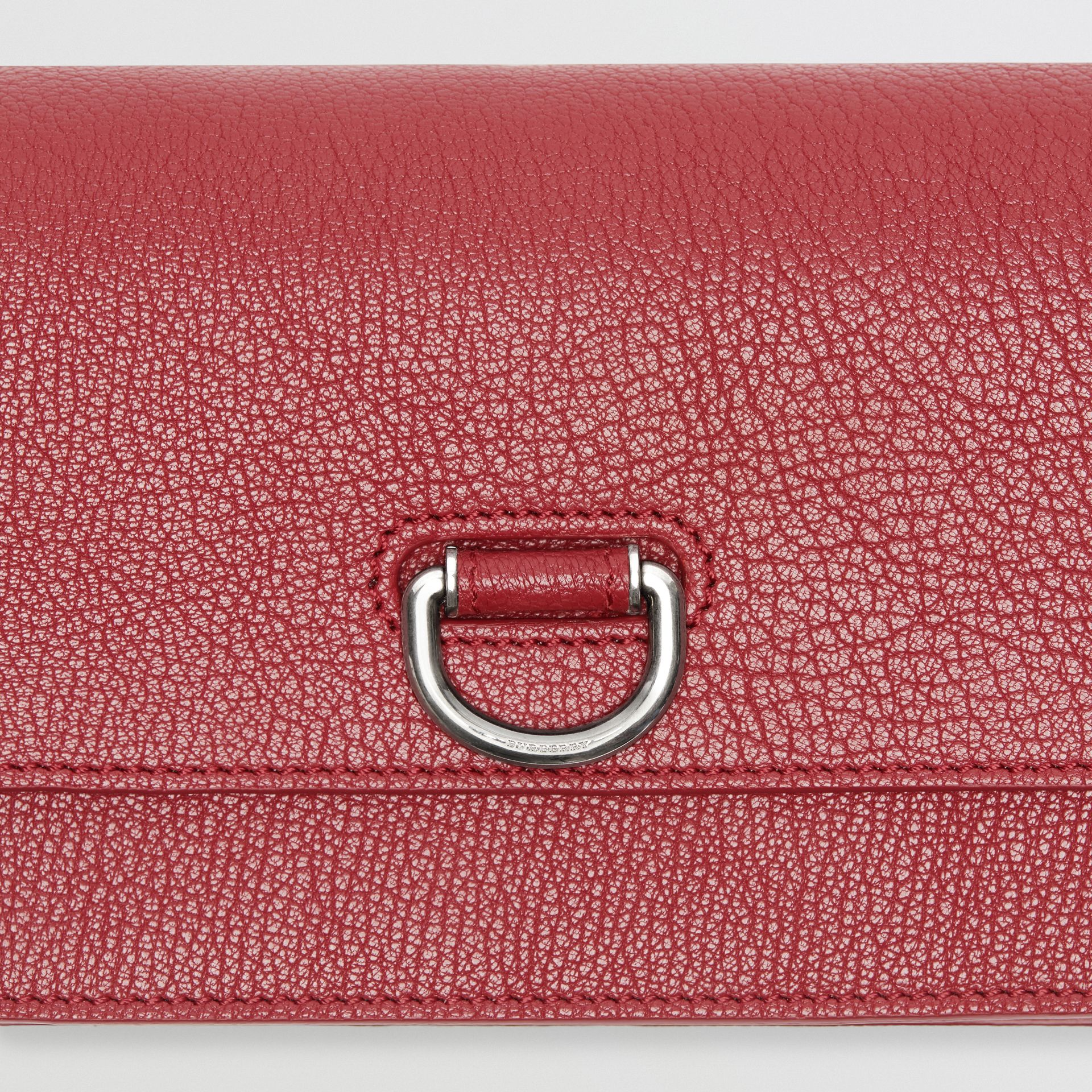 The Mini Leather D-ring Bag in Crimson - Women | Burberry - gallery image 1