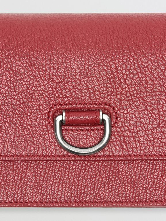 The Mini Leather D-ring Bag in Crimson - Women | Burberry - cell image 1