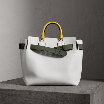 Sale Low Shipping The Large Leather Belt Bag - White Burberry 100% Original Cheap Online 7ZNm3