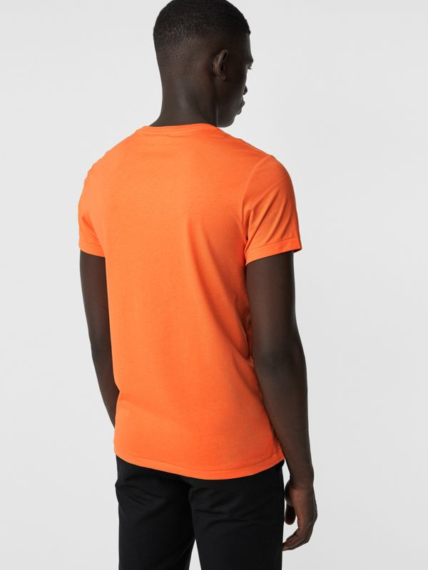 Cotton Jersey T-shirt in Bright Orange - Men | Burberry United States - cell image 2