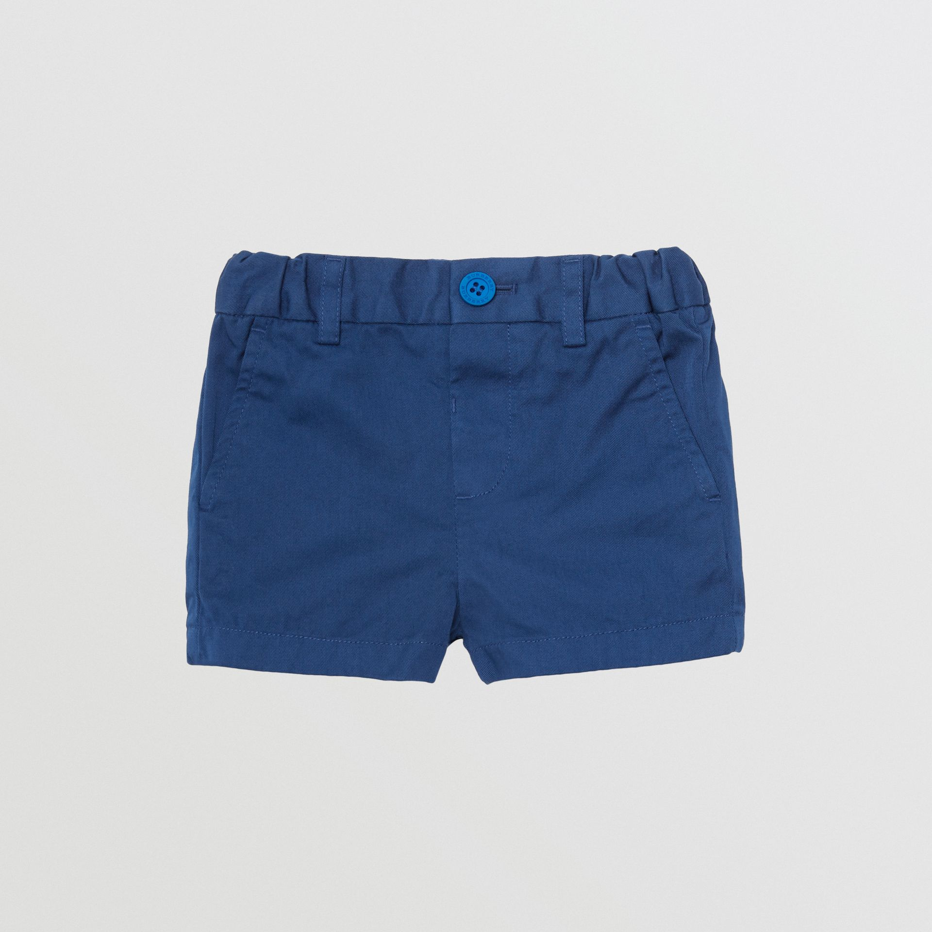 Short chino en coton (Marine Vif) - Enfant | Burberry - photo de la galerie 0