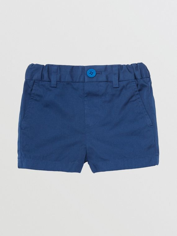 Cotton Chino Shorts in Bright Navy