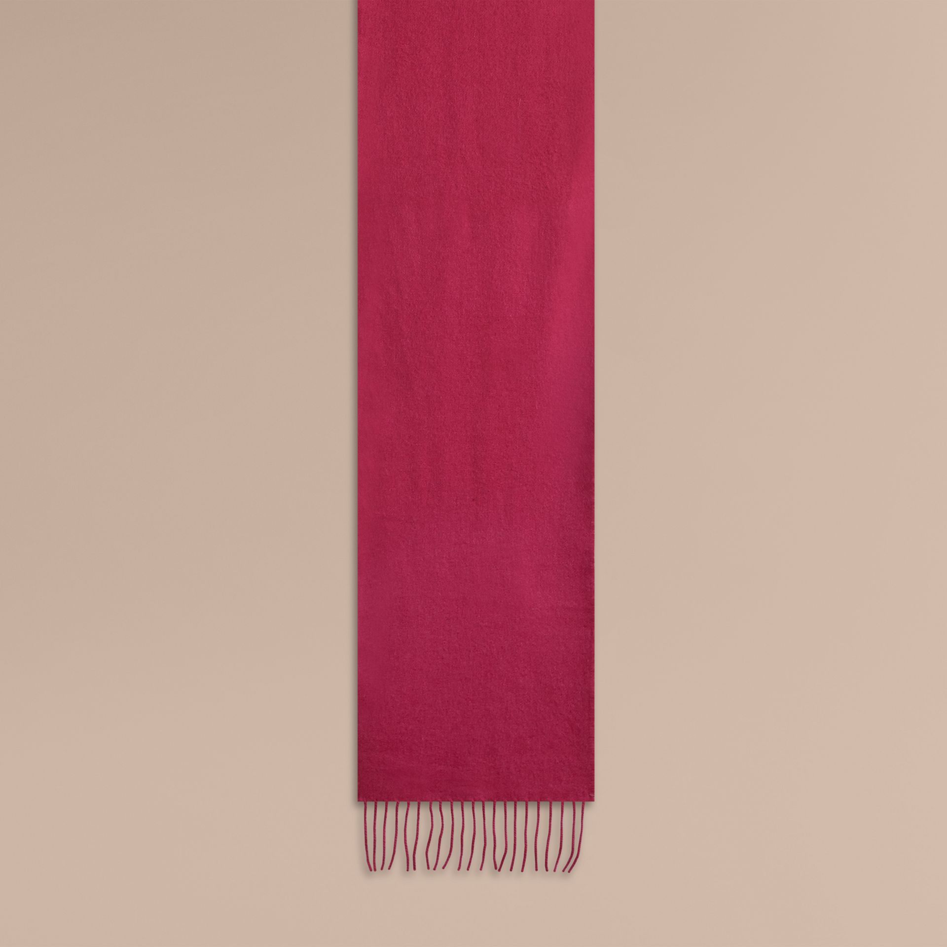 Fuchsia pink The Mini Classic Cashmere Scarf - gallery image 2