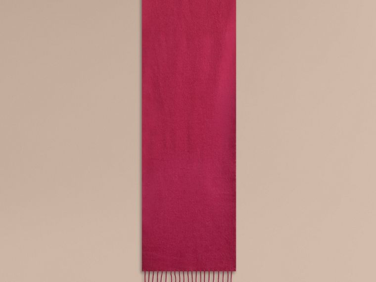 Fuchsia pink The Mini Classic Cashmere Scarf - cell image 1