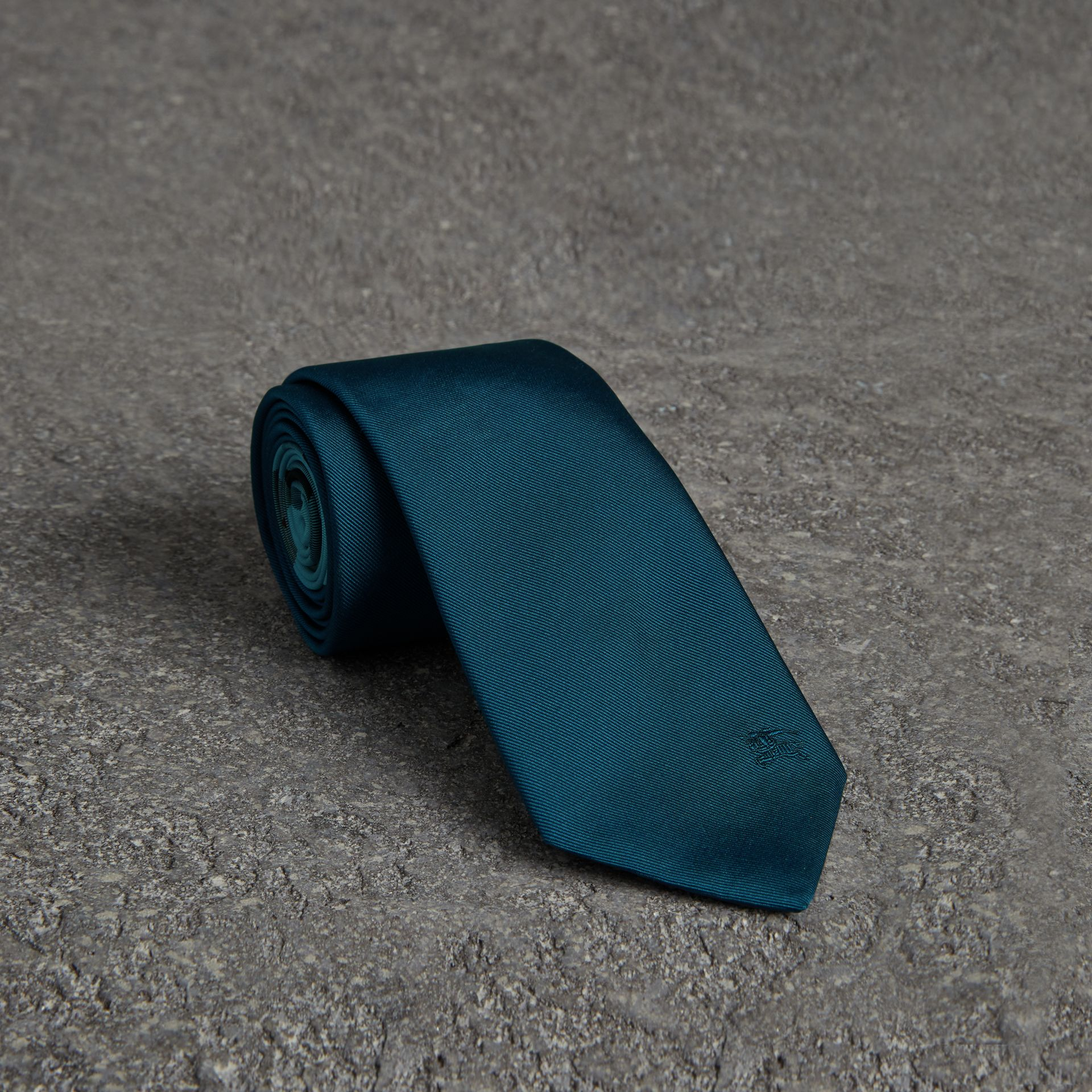 Modern Cut Silk Tie in Mineral Blue - Men | Burberry United Kingdom - gallery image 0