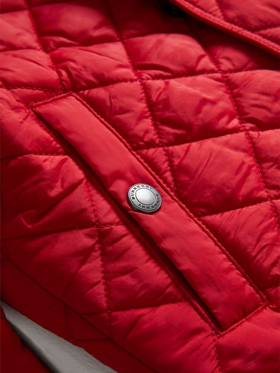 Diamond Quilted Jacket in Bright Cherry Red - Boy | Burberry United Kingdom - cell image 1