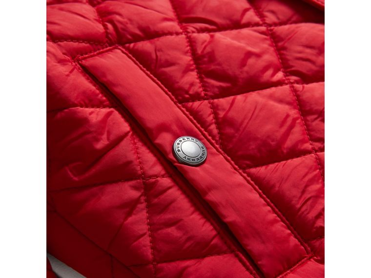 Diamond Quilted Jacket in Bright Cherry Red - Boy | Burberry - cell image 1