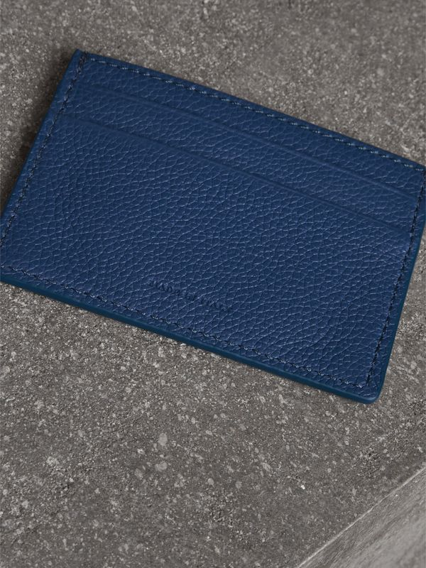 Grainy Leather Card Case in Bright Ultramarine | Burberry - cell image 2