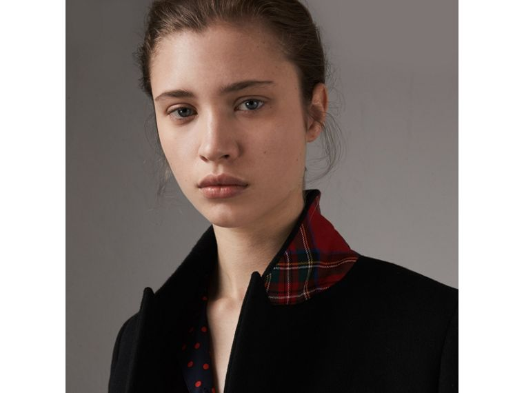 Wool Cashmere Tailored Coat in Black - Women | Burberry - cell image 1
