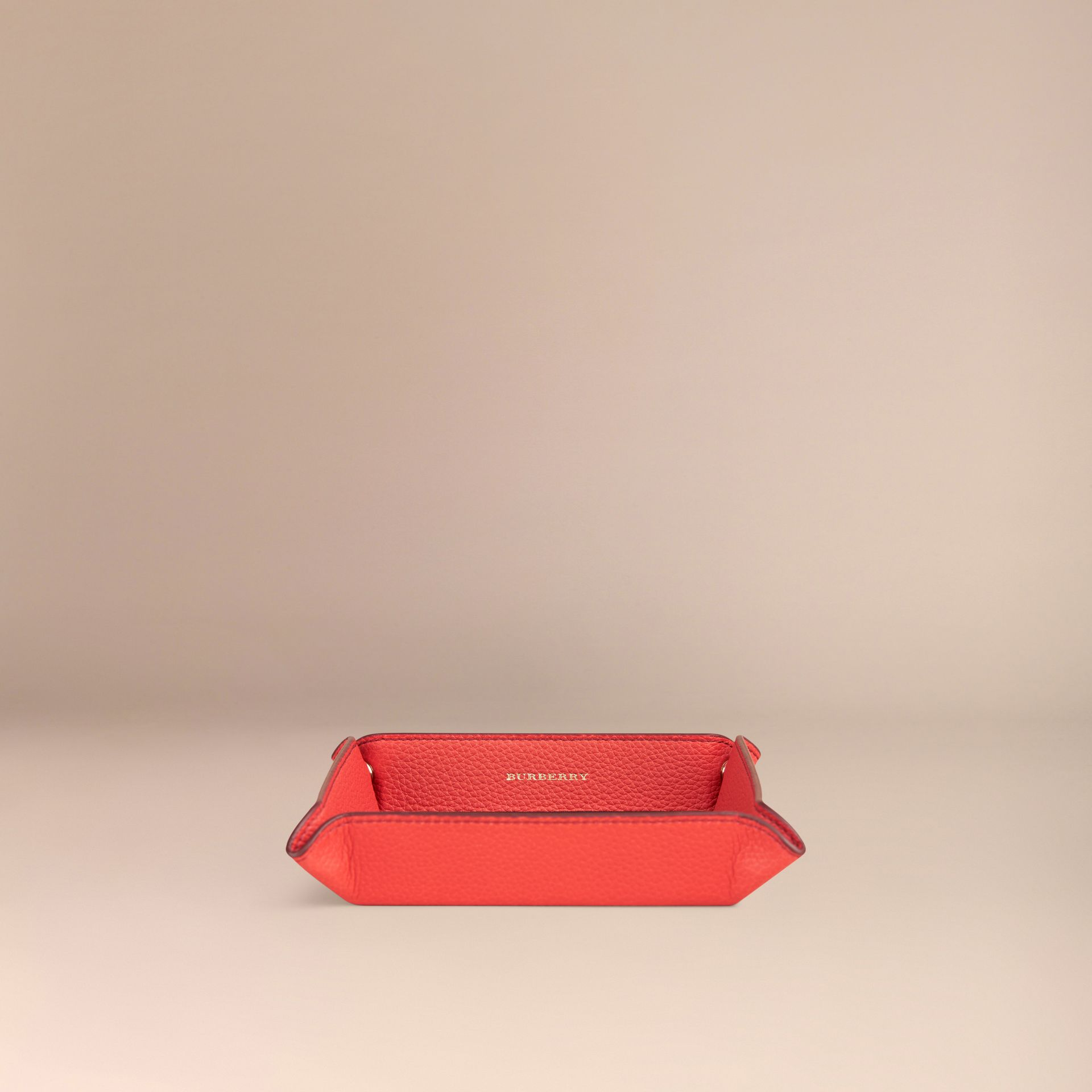 Orange red Grainy Leather Valet Tray Orange Red - gallery image 3