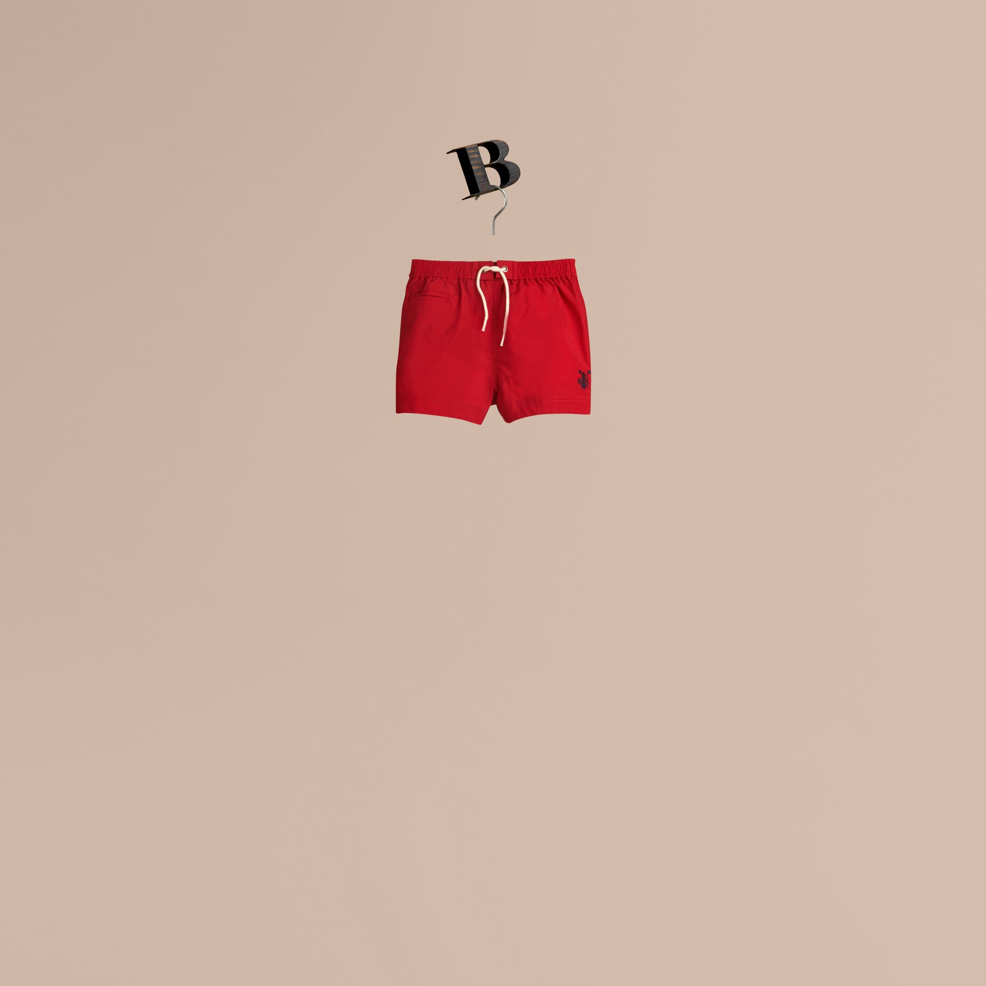 Lightweight Swim Shorts in Military Red | Burberry - gallery image 1