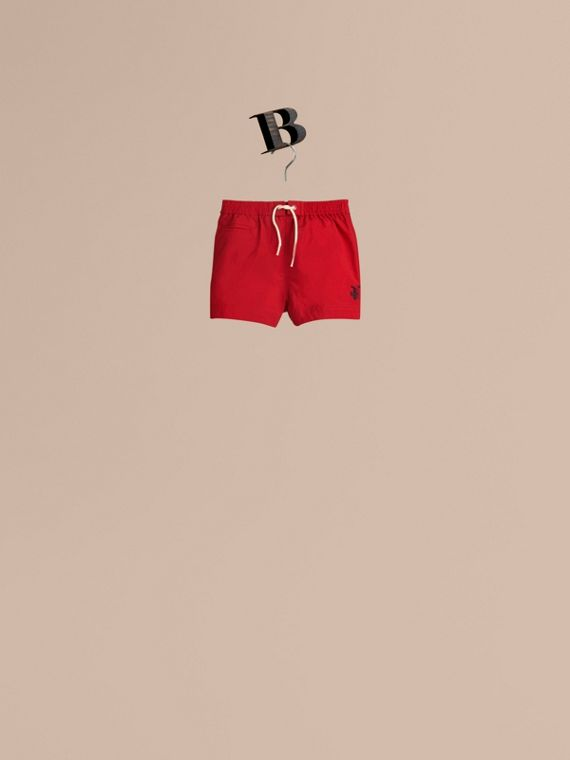 Lightweight Swim Shorts in Military Red