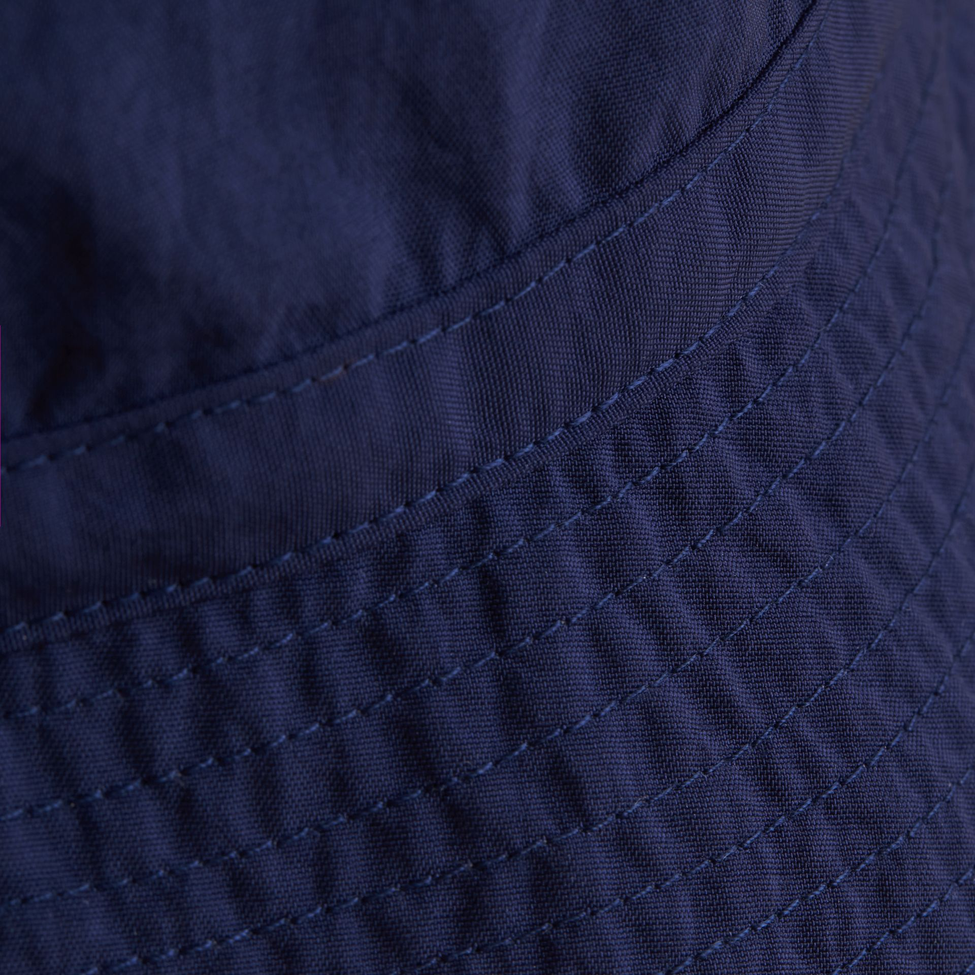 Check Detail Bucket Hat in Indigo | Burberry United States - gallery image 1