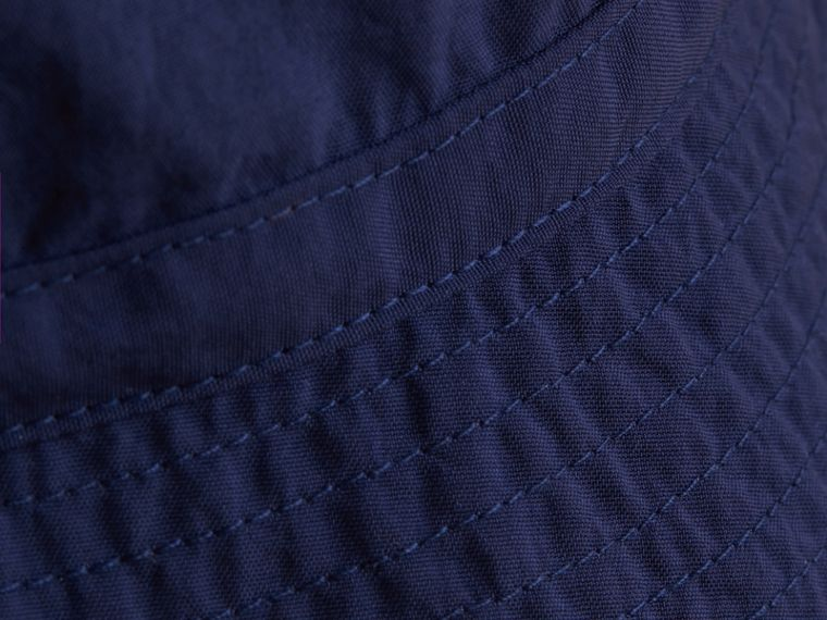 Check Detail Bucket Hat in Indigo | Burberry United States - cell image 1