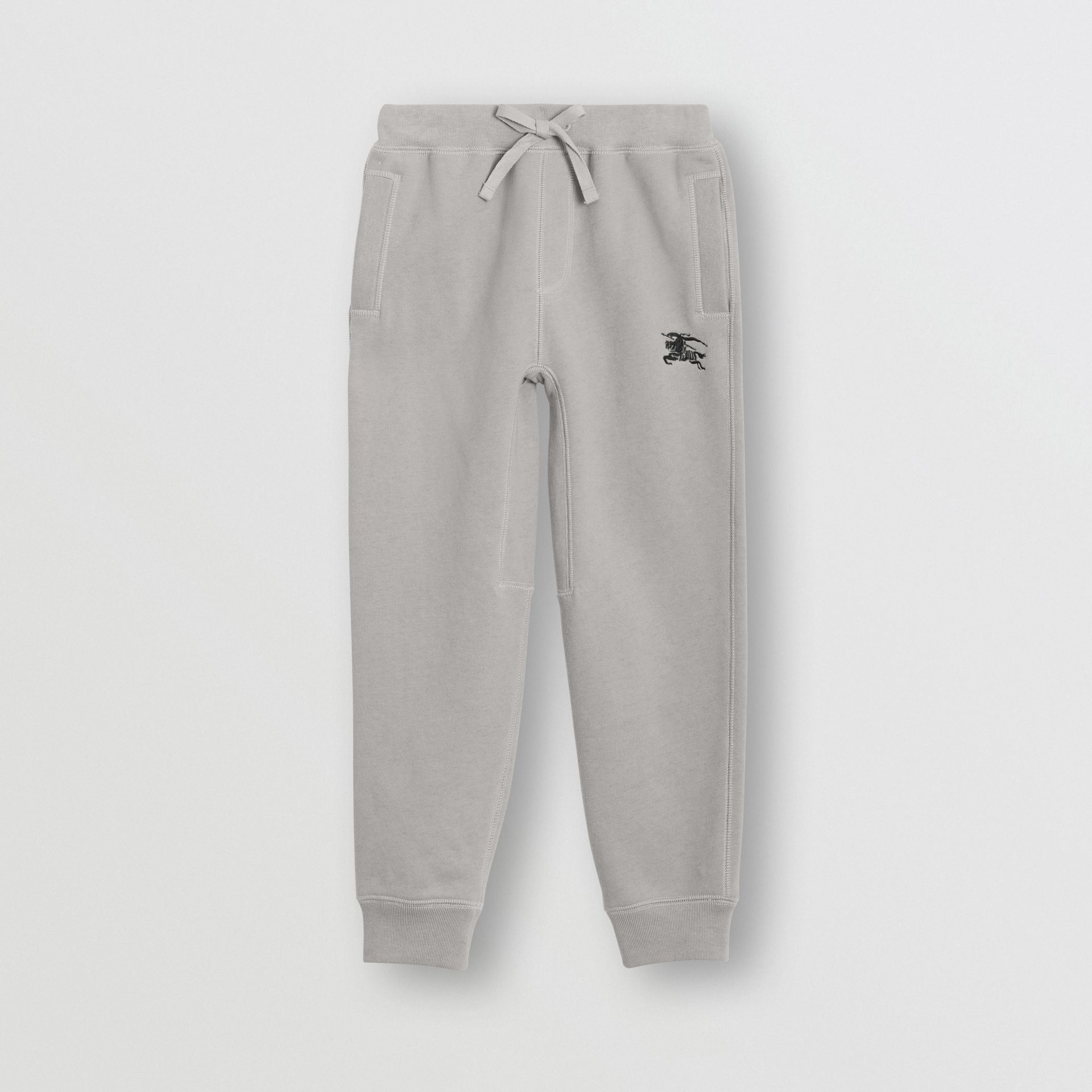 Cotton Jersey Trackpants in Chalk Grey Melange | Burberry - gallery image 0
