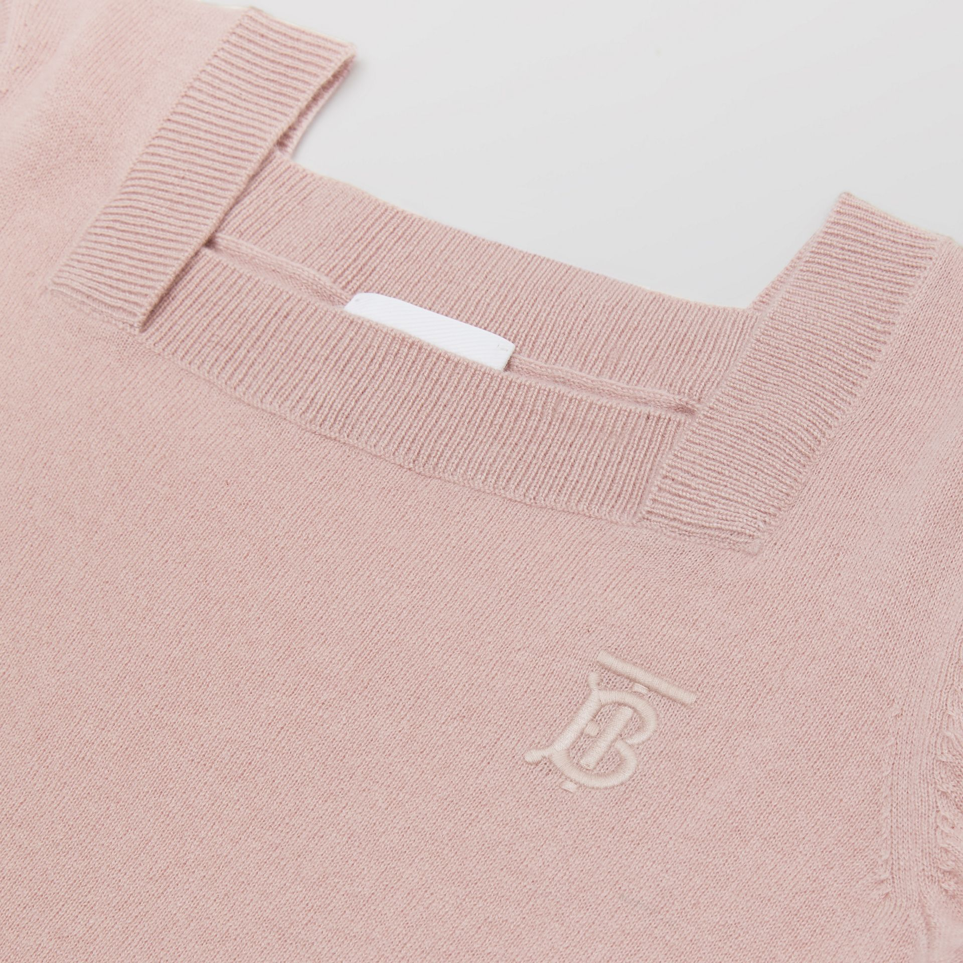 Monogram Motif Cashmere Sweater Dress in Lavender Pink | Burberry - gallery image 1