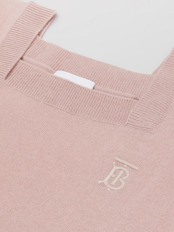 Monogram Motif Cashmere Sweater Dress in Lavender Pink | Burberry - cell image 1