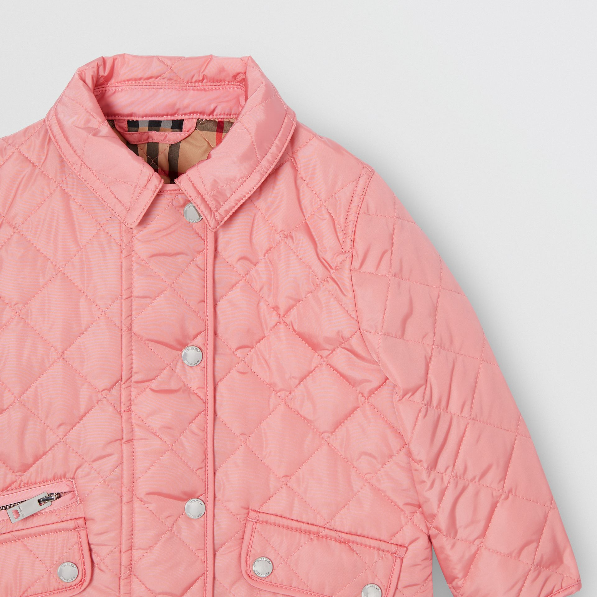 Lightweight Diamond Quilted Jacket in Dusty Pink - Children | Burberry - gallery image 4