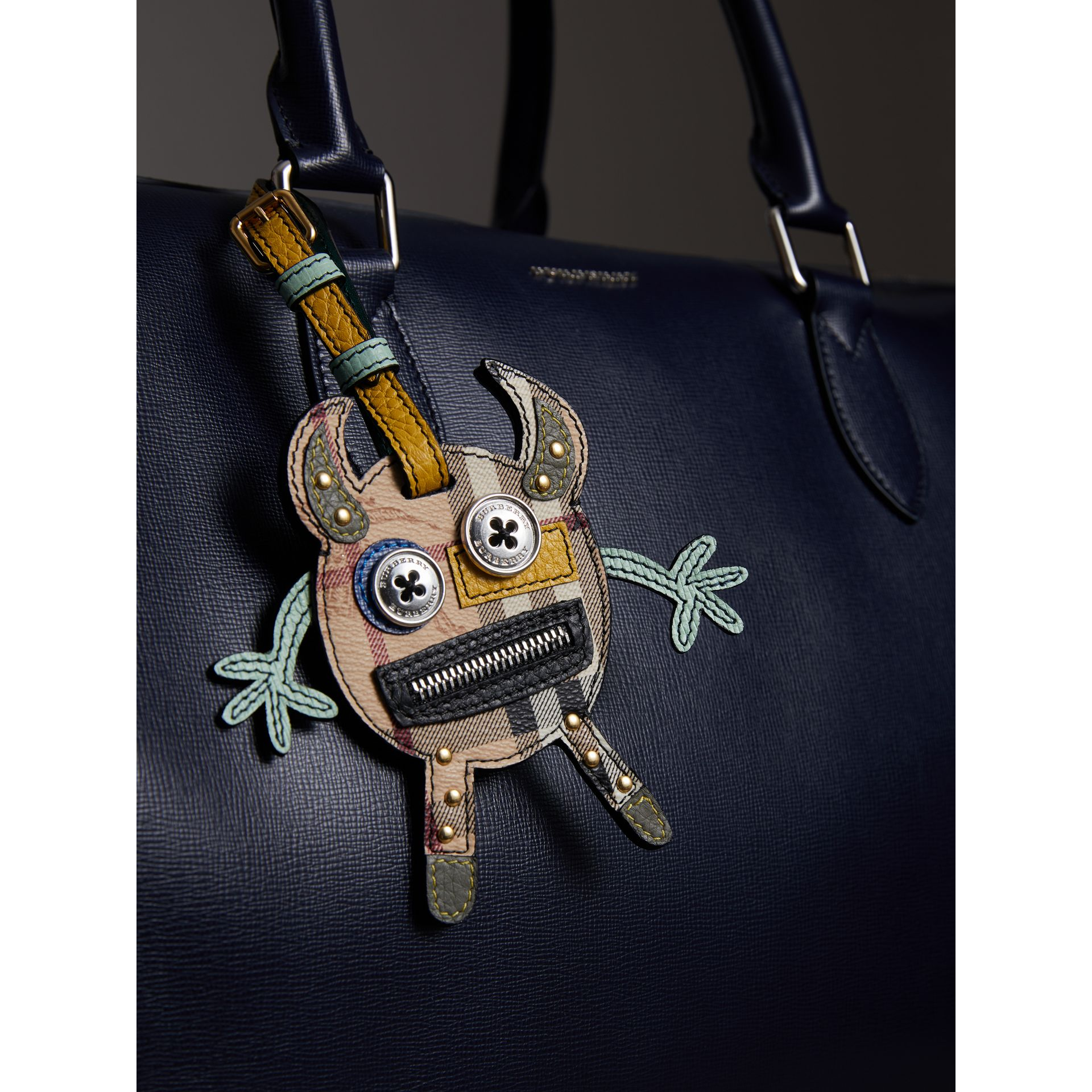 Creature Appliqué Leather Trim Luggage Tag in Light Mint | Burberry - gallery image 2