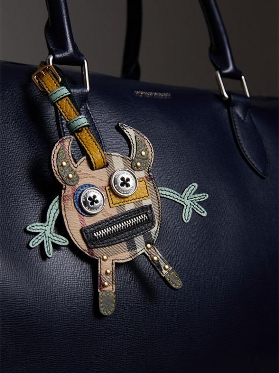 Creature Appliqué Leather Trim Luggage Tag in Light Mint | Burberry Singapore - cell image 2