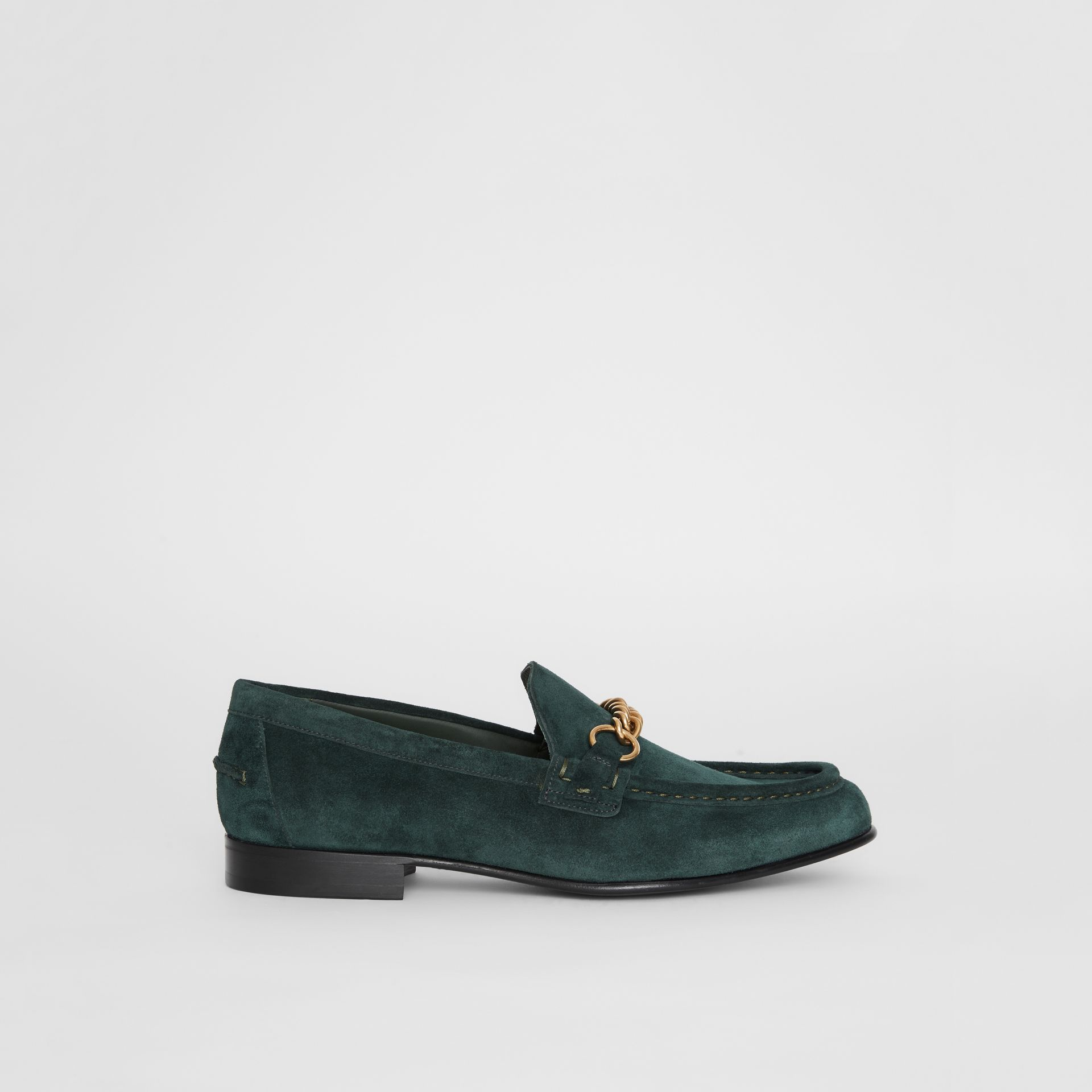 The Suede Link Loafer in Dark Slate Green - Men | Burberry - gallery image 4