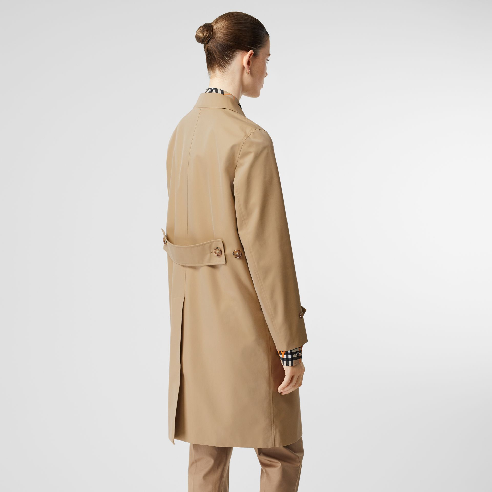 Cotton Gabardine Lab Coat in Honey - Women | Burberry - gallery image 2