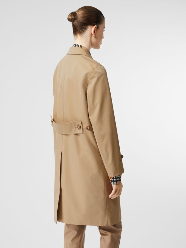 Cotton Gabardine Lab Coat in Honey - Women | Burberry - cell image 2