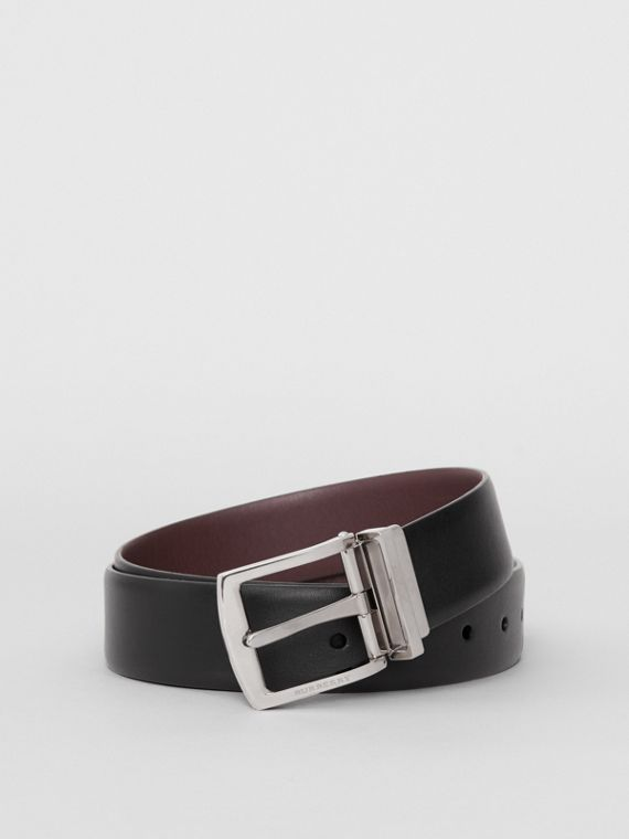 Reversible Leather Belt in Black