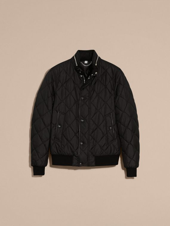 Black Quilted Packaway Hood Jacket - cell image 3
