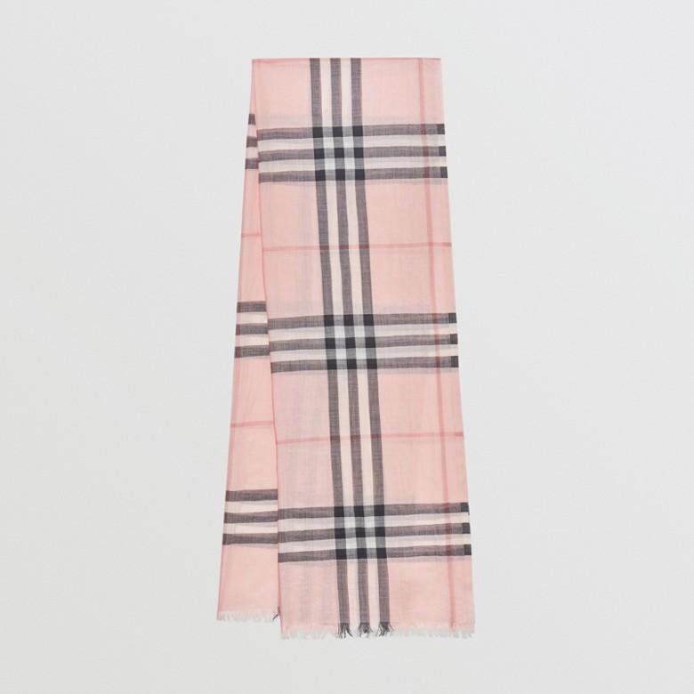 Burberry - Écharpe légère en laine et soie à motif check - 1