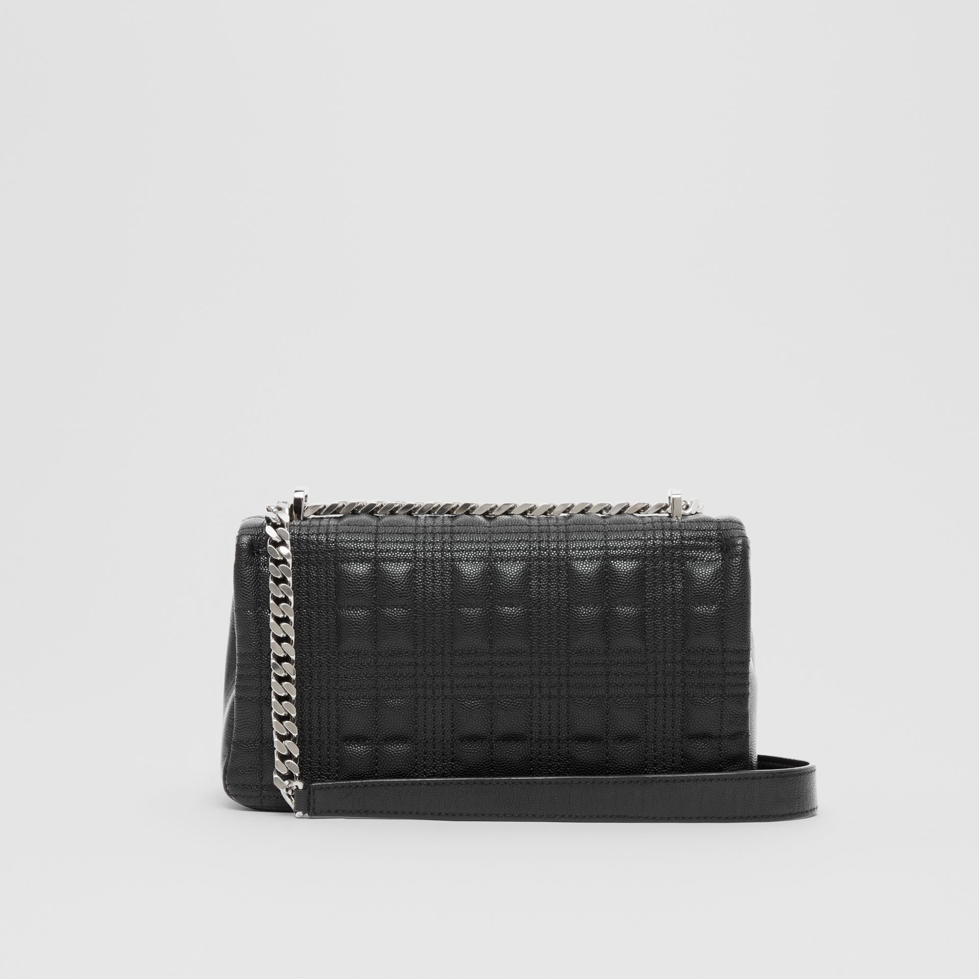 Small Quilted Grainy Leather Lola Bag in Black | Burberry United States - gallery image 9