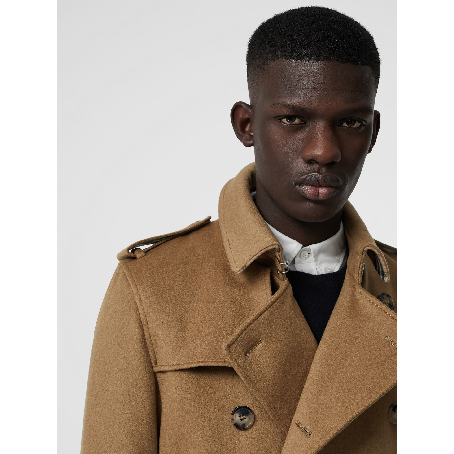 Cashmere Trench Coat in Camel - Men | Burberry Australia - gallery image 3