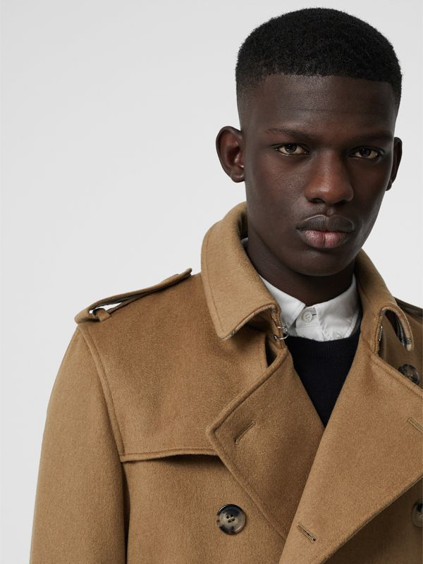 Cashmere Trench Coat in Camel - Men | Burberry Australia - cell image 3