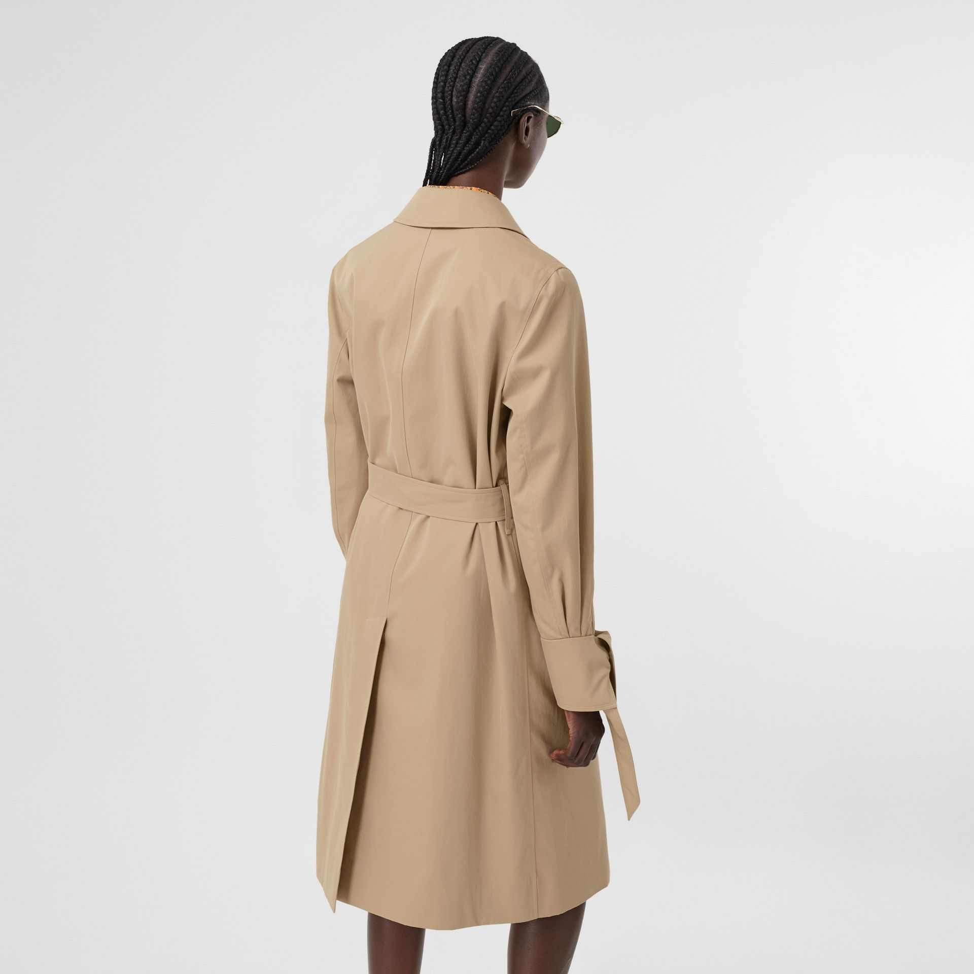 Tropical Gabardine Car Coat in Honey - Women | Burberry - gallery image 2