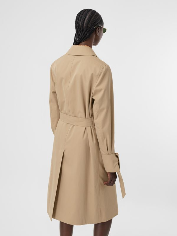 Tropical Gabardine Car Coat in Honey - Women | Burberry - cell image 2