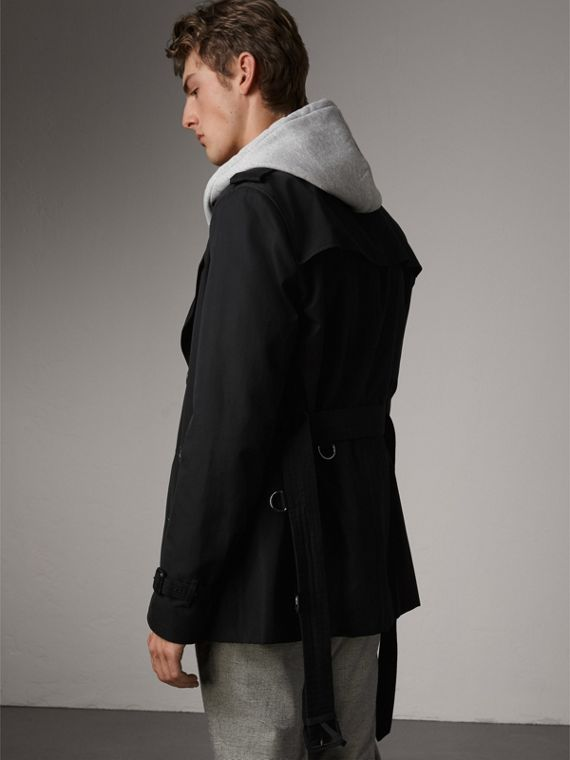 The Kensington – Short Trench Coat in Black - Men | Burberry Singapore - cell image 2