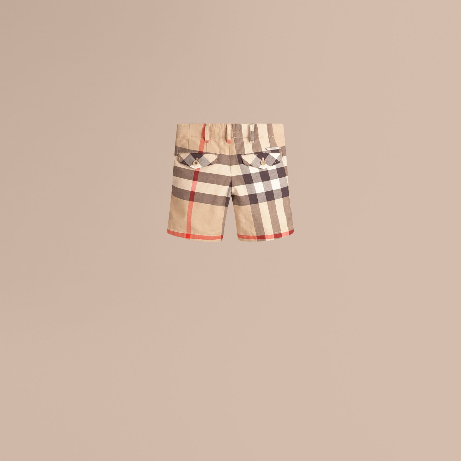 Check Cotton Chino Shorts in Classic - Boy | Burberry Canada - gallery image 2